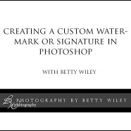 May 14 Creating a Custom Watermark or Logo in Photoshop  w/ Betty Wiley