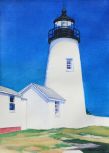 painting of lighthouse