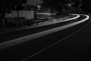 road at night time