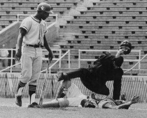 baseball player on the ground